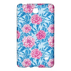 Blue & Pink Floral Samsung Galaxy Tab 4 (8 ) Hardshell Case  by TanyaDraws