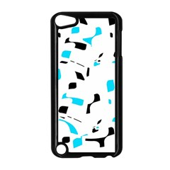 Blue, Black And White Pattern Apple Ipod Touch 5 Case (black) by Valentinaart