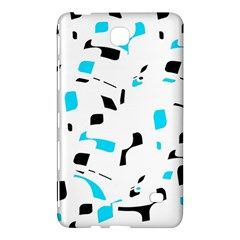 Blue, Black And White Pattern Samsung Galaxy Tab 4 (7 ) Hardshell Case  by Valentinaart