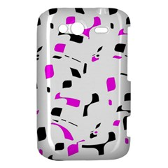 Magenta, black and white pattern HTC Wildfire S A510e Hardshell Case