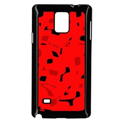 Red And Black Pattern Samsung Galaxy Note 4 Case (black) by Valentinaart