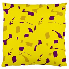 Yellow And Purple Pattern Standard Flano Cushion Case (one Side) by Valentinaart
