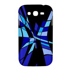 Blue abstart design Samsung Galaxy Grand DUOS I9082 Hardshell Case by Valentinaart