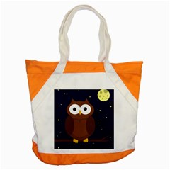 Cute Owl Accent Tote Bag by Valentinaart