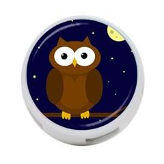 Cute Owl 4 Port Usb Hub (one Side) by Valentinaart
