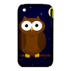 Cute Owl Apple Iphone 3g/3gs Hardshell Case (pc+silicone) by Valentinaart