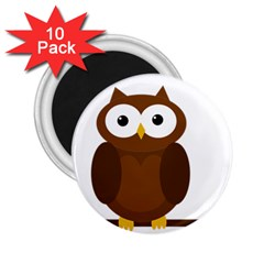 Cute transparent brown owl 2.25  Magnets (10 pack)  by Valentinaart