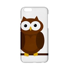 Cute Transparent Brown Owl Apple Iphone 6/6s Hardshell Case by Valentinaart