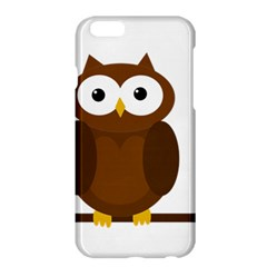 Cute Transparent Brown Owl Apple Iphone 6 Plus/6s Plus Hardshell Case by Valentinaart