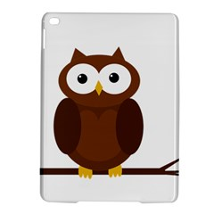 Cute transparent brown owl iPad Air 2 Hardshell Cases by Valentinaart