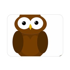 Cute Transparent Brown Owl Double Sided Flano Blanket (mini)  by Valentinaart