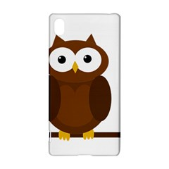Cute Transparent Brown Owl Sony Xperia Z3+ by Valentinaart