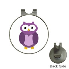 Purple Transparetn Owl Hat Clips With Golf Markers by Valentinaart