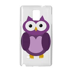 Purple transparetn owl Samsung Galaxy Note 4 Hardshell Case by Valentinaart