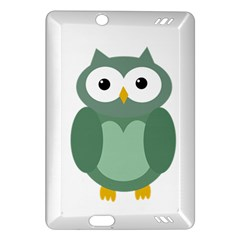 Green cute transparent owl Amazon Kindle Fire HD (2013) Hardshell Case by Valentinaart