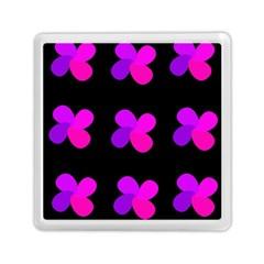 Purple Flowers Memory Card Reader (square)  by Valentinaart