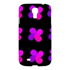 Purple Flowers Samsung Galaxy S4 I9500/i9505 Hardshell Case by Valentinaart