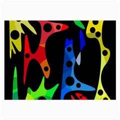 Colorful Abstract Pattern Large Glasses Cloth by Valentinaart