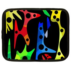 Colorful Abstract Pattern Netbook Case (xl)  by Valentinaart
