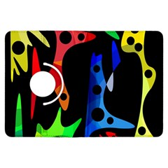 Colorful Abstract Pattern Kindle Fire Hdx Flip 360 Case by Valentinaart