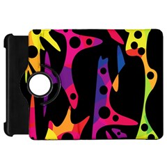 Colorful Pattern Kindle Fire Hd Flip 360 Case by Valentinaart