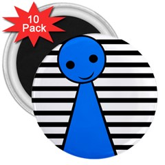 Blue pawn 3  Magnets (10 pack)