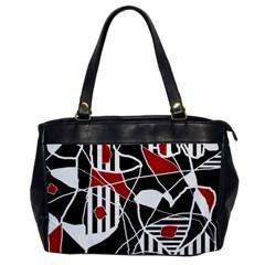 Artistic Abstraction Office Handbags by Valentinaart