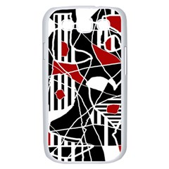 Artistic abstraction Samsung Galaxy S III Case (White)