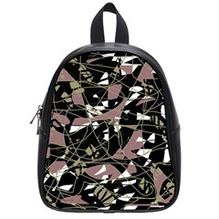 Artistic Abstract Pattern School Bags (small)  by Valentinaart