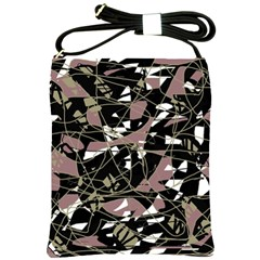 Artistic Abstract Pattern Shoulder Sling Bags by Valentinaart