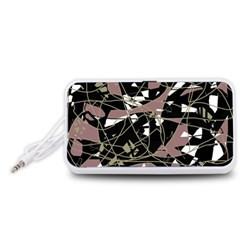 Artistic abstract pattern Portable Speaker (White)  by Valentinaart