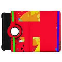 Red Abstraction Kindle Fire Hd Flip 360 Case by Valentinaart