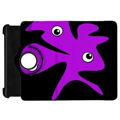 Purple Amoeba Kindle Fire Hd Flip 360 Case by Valentinaart
