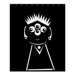 Black And White Voodoo Man Shower Curtain 60  X 72  (medium)  by Valentinaart