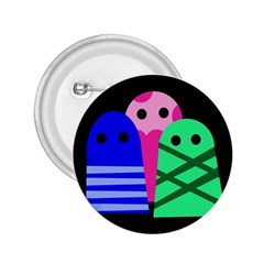 Three monsters 2.25  Buttons by Valentinaart