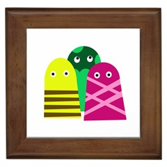 Three Mosters Framed Tiles by Valentinaart