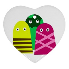 Three Mosters Ornament (heart)  by Valentinaart