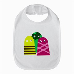 Three Mosters Bib by Valentinaart