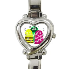 Three Mosters Heart Italian Charm Watch by Valentinaart