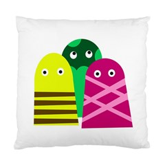 Three Mosters Standard Cushion Case (two Sides) by Valentinaart