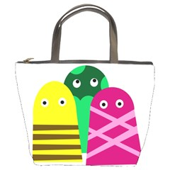 Three Mosters Bucket Bags by Valentinaart