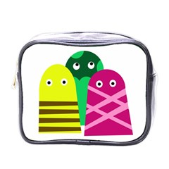 Three Mosters Mini Toiletries Bags by Valentinaart