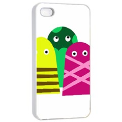 Three Mosters Apple Iphone 4/4s Seamless Case (white) by Valentinaart