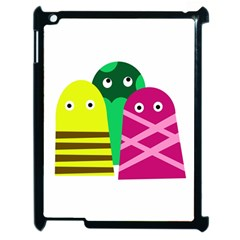 Three Mosters Apple Ipad 2 Case (black) by Valentinaart