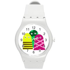 Three Mosters Round Plastic Sport Watch (m) by Valentinaart