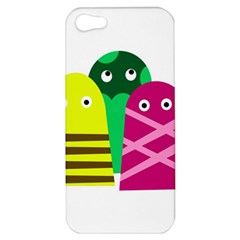 Three Mosters Apple Iphone 5 Hardshell Case by Valentinaart
