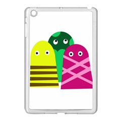 Three Mosters Apple Ipad Mini Case (white) by Valentinaart
