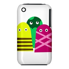 Three Mosters Apple Iphone 3g/3gs Hardshell Case (pc+silicone) by Valentinaart