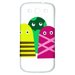 Three Mosters Samsung Galaxy S3 S Iii Classic Hardshell Back Case by Valentinaart
