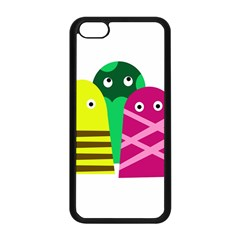 Three Mosters Apple Iphone 5c Seamless Case (black) by Valentinaart